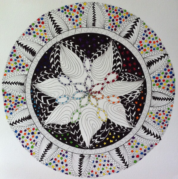 Cosmic Mandala by Donna Stares