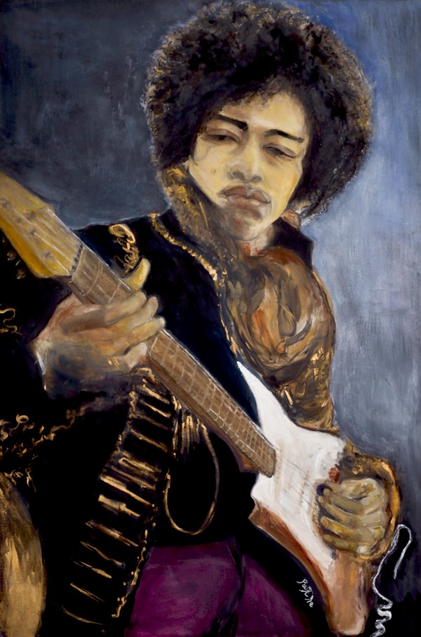 Jimi_High_Res by  Claire Vines Artist