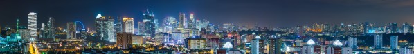 Downtown Singapore at night by Em Campos