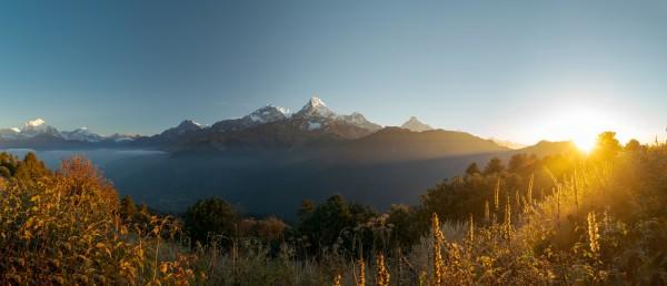 Sunrise on Machhapuchhare Nepal by Em Campos