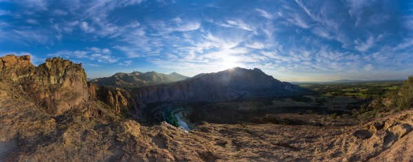Smith Rock National Park and the river bend Oregon by Em Campos