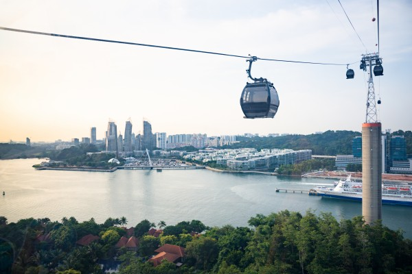 Sentosa Cable in Singapore by Em Campos