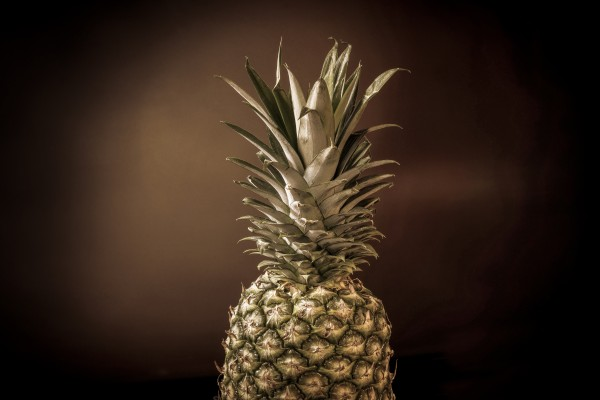Big pineapple with its leaves Effect filter by Francois Lariviere