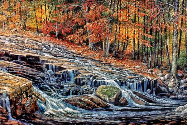 Autumn Cascade  by Frank Wilson