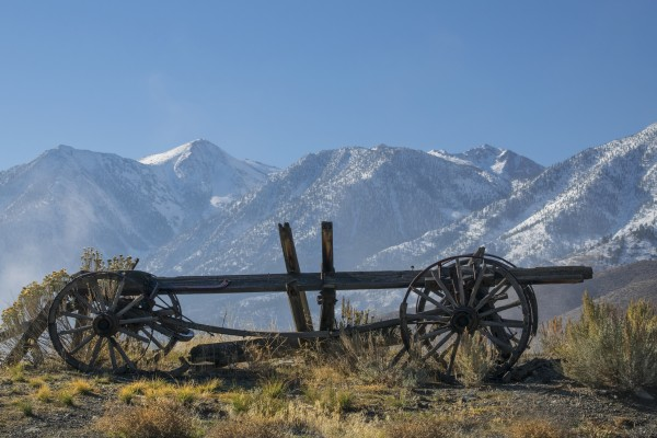 Abandoned Wagon In The High Sierra Nevada Mountains by Frank Wilson