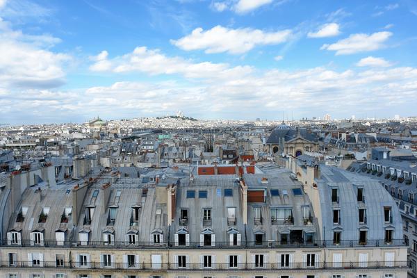 Roofs of Paris by Hassan Bensliman