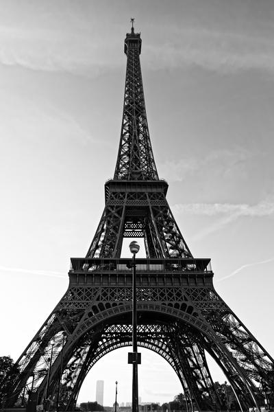 Eiffel tower in black  by Hassan Bensliman