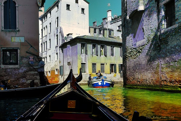 Venice Canal Scene by Lutz Roland Lehn