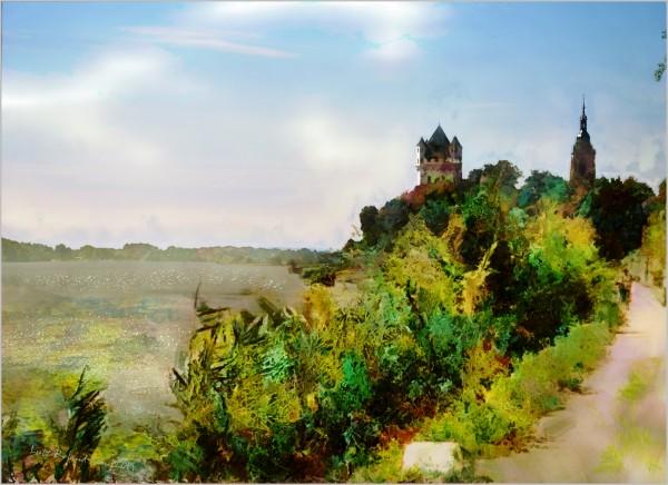 Eltville on the Rhine by Lutz Roland Lehn