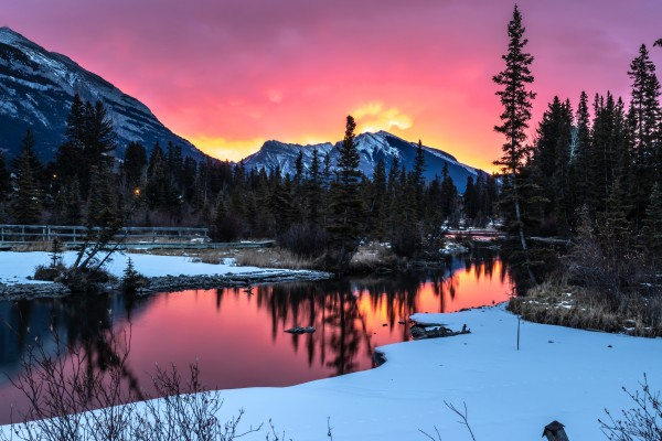 Sunrise At Policemans Creek Alberta by Mike Gould Photoscapes