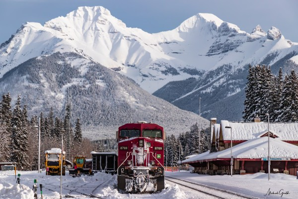 Banff Train Station by Mike Gould Photoscapes