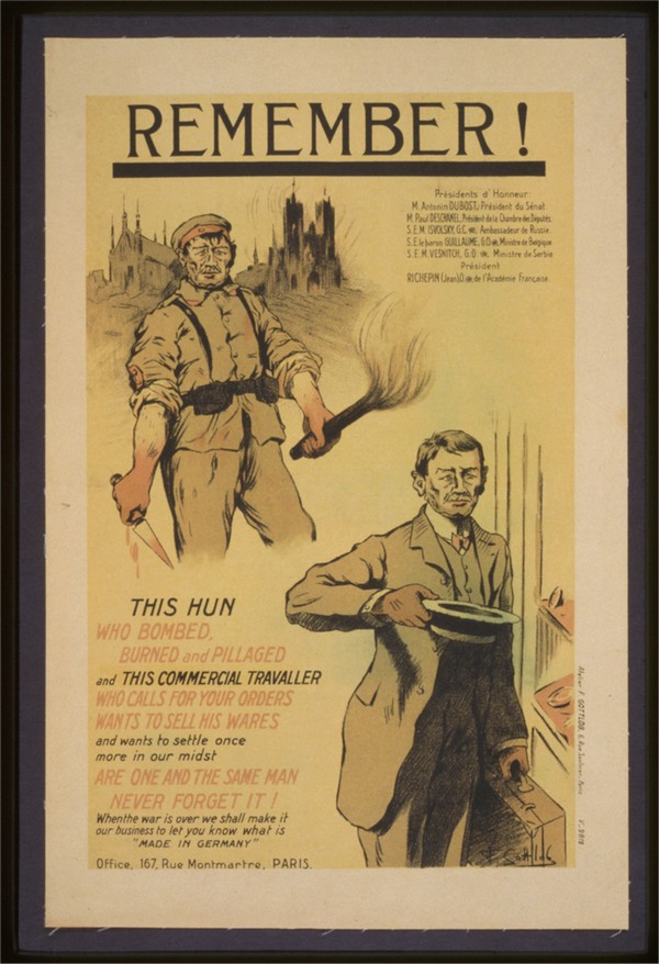 Vintage---Remember-the-Hun  Print