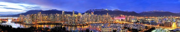 Vancouver Skyline Panorama by Wesley Allen Shaw
