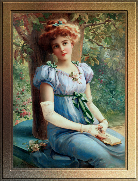 A Sweet Glance by Emile Vernon Fine Art Xzendor7 Old Masters Reproductions by xzendor7