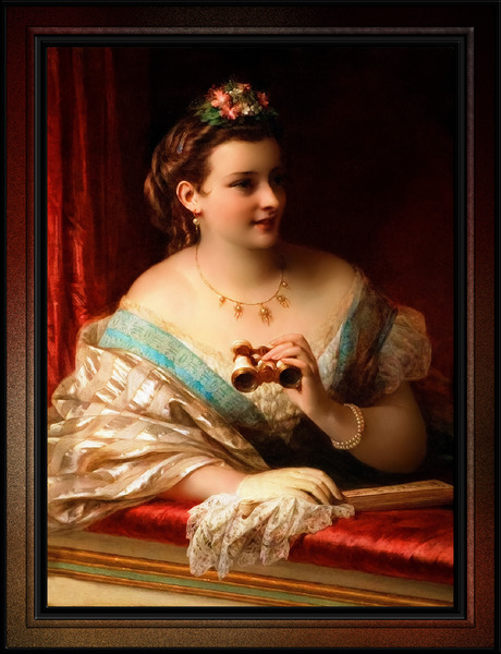 At The Opera by Thomas Francis Dicksee Classical Fine Art Old Masters Reproduction by xzendor7