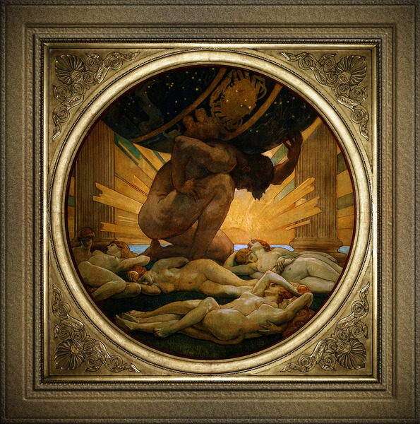 Atlas And The Hesperides by John Singer Sargent Classical Fine Art Xzendor7 Old Masters Reproductions by xzendor7