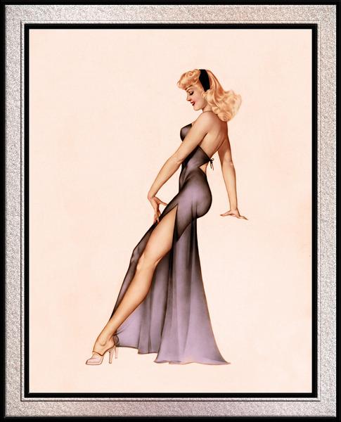 Esquire Calendar Girl 1946 by Alberto Vargas Pin-up Vintage Artwork by xzendor7