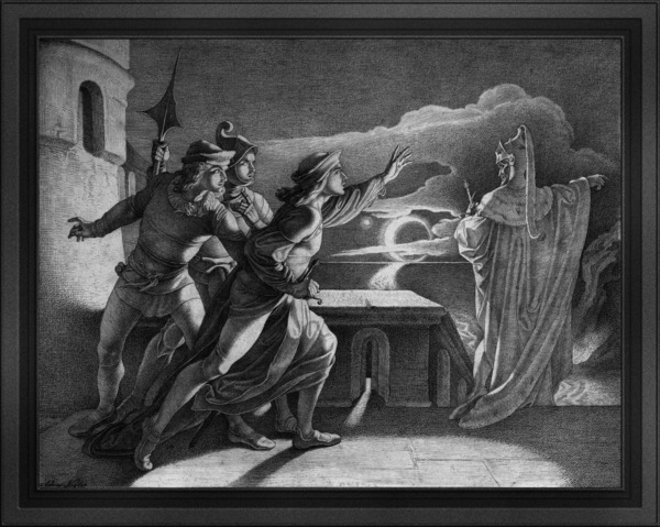 Hamlet and the Ghost of his Father by Adam Vogler Old Masters Classical Art Reproduction by xzendor7