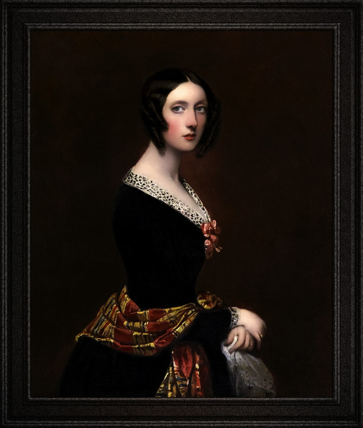 Harriet Parker Countess of Morley by Richard Buckner Classical Art Xzendor7 Old Masters Reproductions by xzendor7