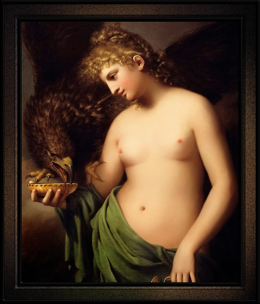 Hebe Offering Cup to Jupiter by Gaspare Landi Classical Art Reproduction by xzendor7