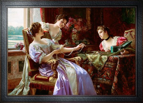 Jewelry Box with Jewelry by Wladyslaw Maurycy Czachorski Classical Art Xzendor7 Old Masters Reproductions by xzendor7