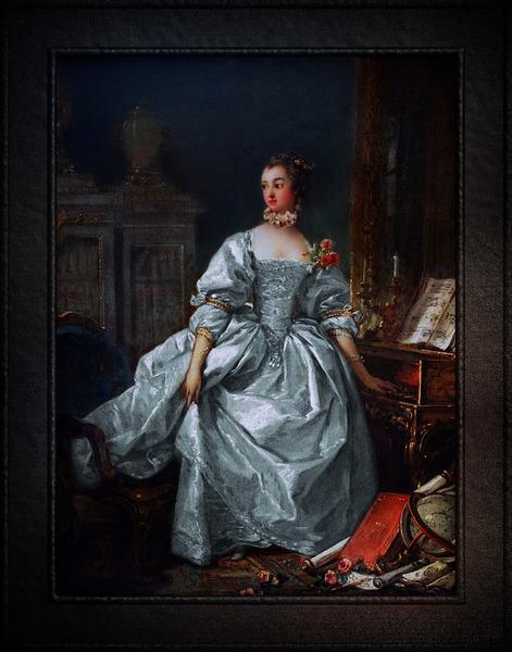 La Marquise de Pompadour by Francois Boucher Classical Fine Art Xzendor7 Old Masters Reproductions by xzendor7