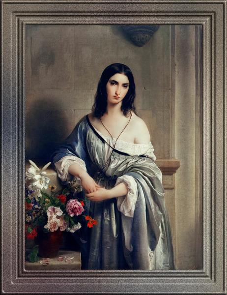 Melancholy by Francesco Hayez Old Masters Classical Fine Art Reproduction by xzendor7