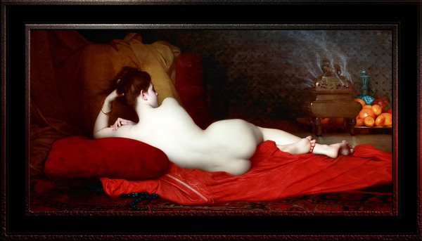 Odalisque by Jules Lefebvre Classical Fine Art Old Masters Reproduction by xzendor7