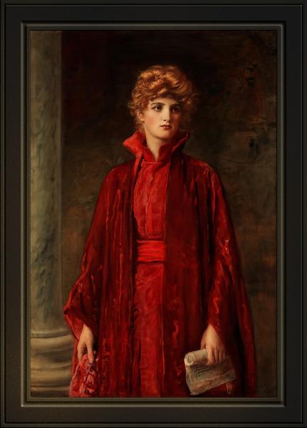 Portia c1886 by Sir John Everett Millais Xzendor7 Old Masters Reproductions by xzendor7