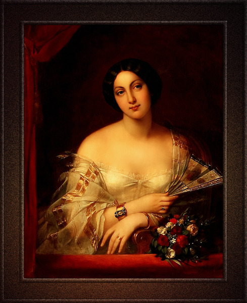 Portrait Of A Lady by French Painter Charlemagne Oscar Guet Classical Fine Art Xzendor7 Old Masters Reproductions by xzendor7