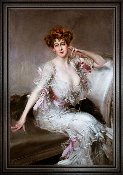 Portrait Of Anna Elizabeth Hansen by Giovanni Boldini Classical Art Old Masters Reproduction by xzendor7