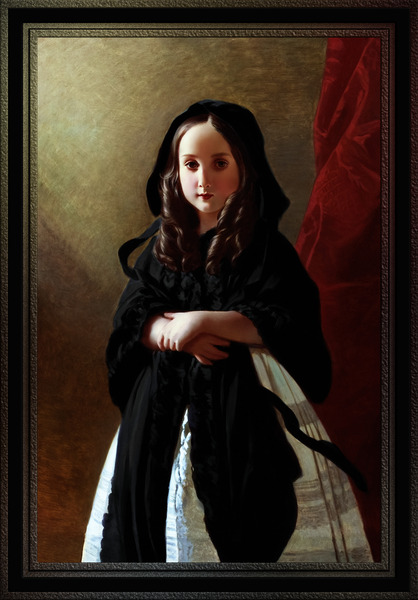 Portrait of Princess Charlotte of Belgium by Franz Xaver Winterhalter Classical Fine Art Old Masters Reproduction by xzendor7