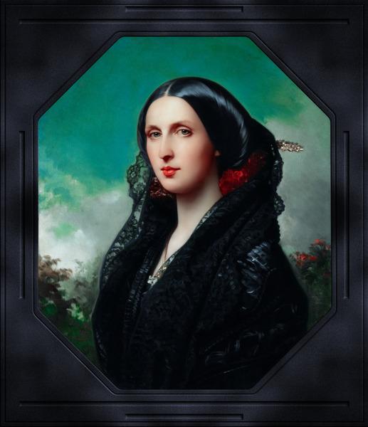 Princess Maria Ilyinichna Golitsyna by Federico de Madraso y Kunz Classical Fine Art Xzendor7 Old Masters Reproductions by xzendor7