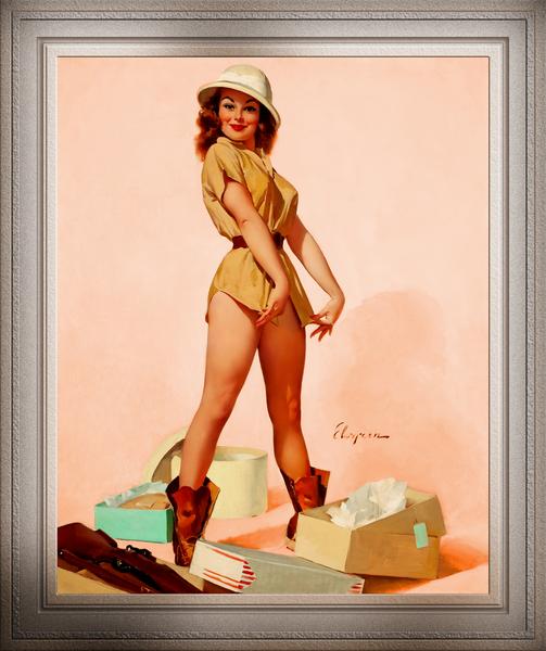 Safari Pin-up Girl by Gil Elvgren Pin-up Girl Vintage Art by xzendor7