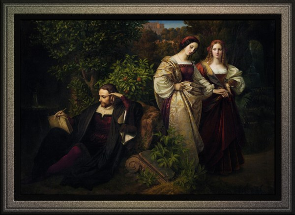 Torquato Tasso and the Two Leonores by Karl Ferdinand Sohn Old Masters Classical Art Reproduction by xzendor7