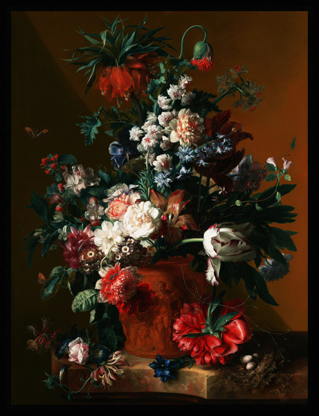 Vase of Flowers by Jan van Huysum Old Masters Xzendor7 Art Reproductions by xzendor7