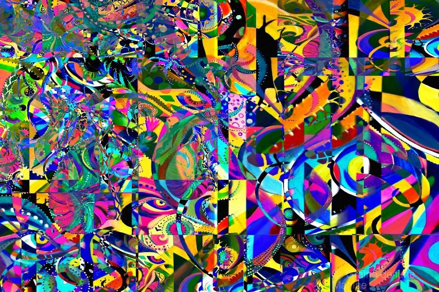 Eclosion fractale  Print