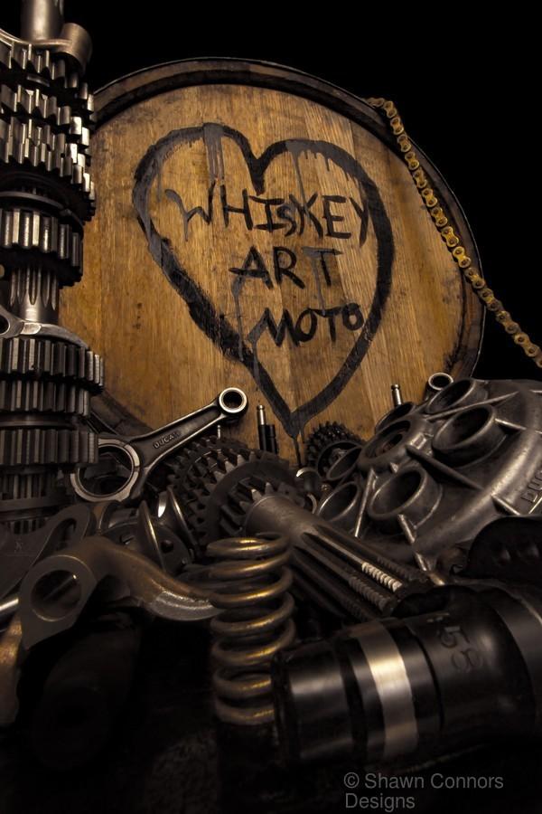 Whiskey Art Moto  Print