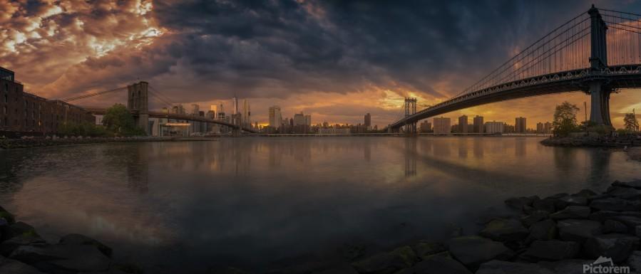 Between bridges  Print