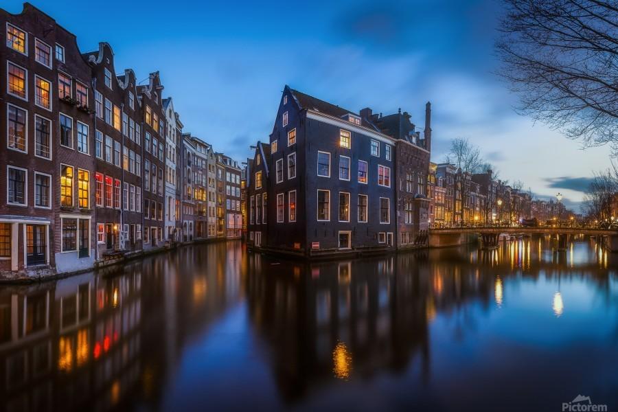 Blue Amsterdam  Print