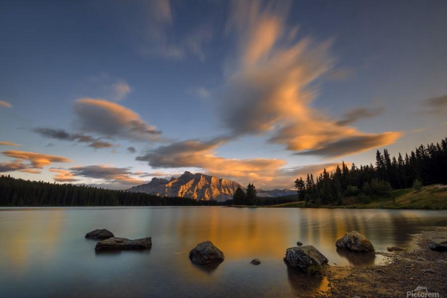 Two Jack Lake Sunset  Print