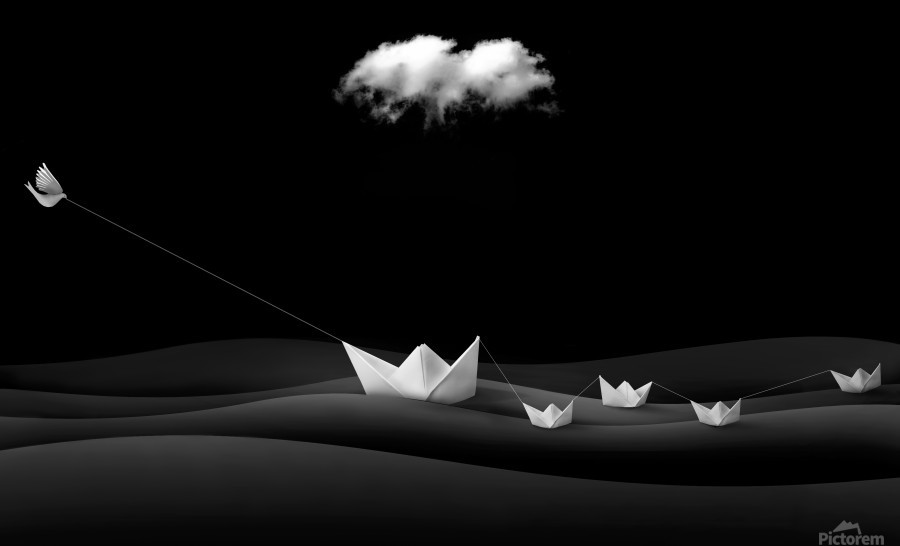 Paper Boats  Print