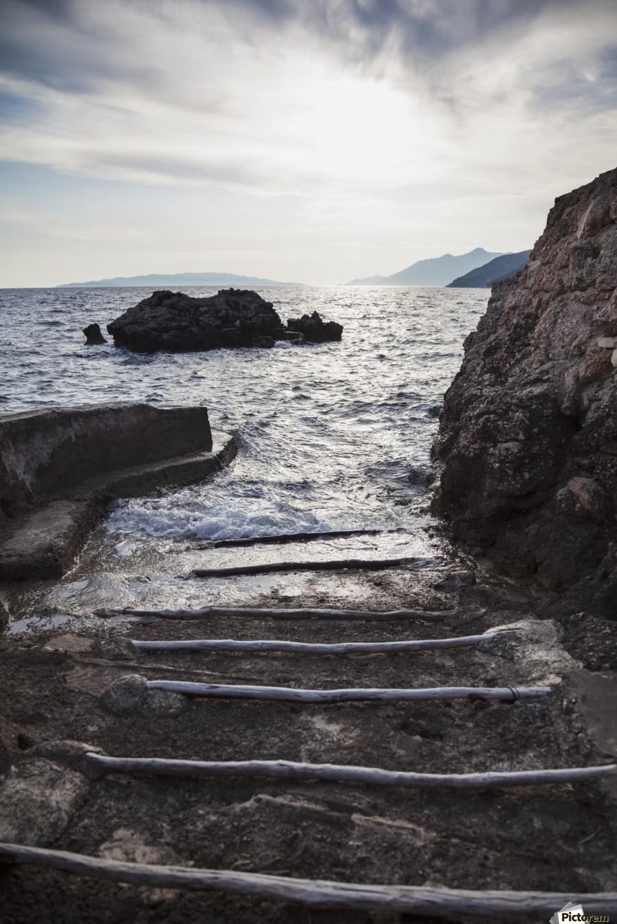 A small boat ramp along the Borak coast, near Trpanj; Borak, Croatia  Print