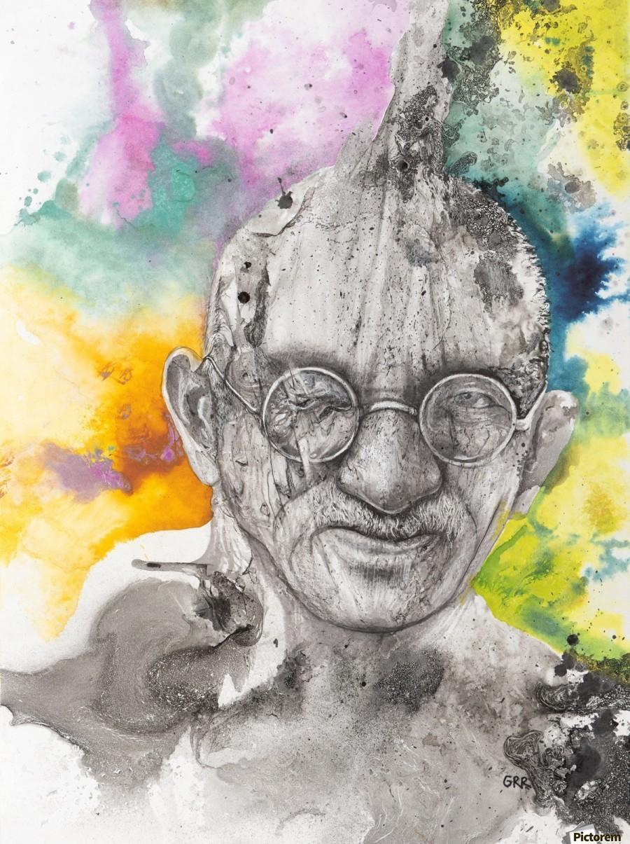 Illustration of a man wearing eyeglasses  Print