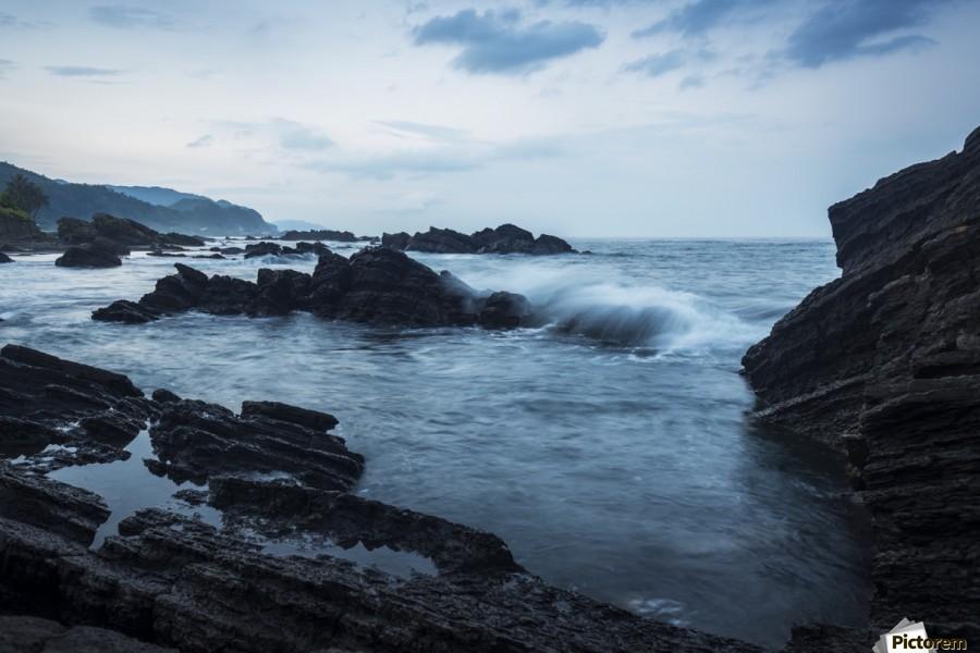 Waiao beach in Yilan County, beautiful volcanic landscape; Taiwan, China  Print