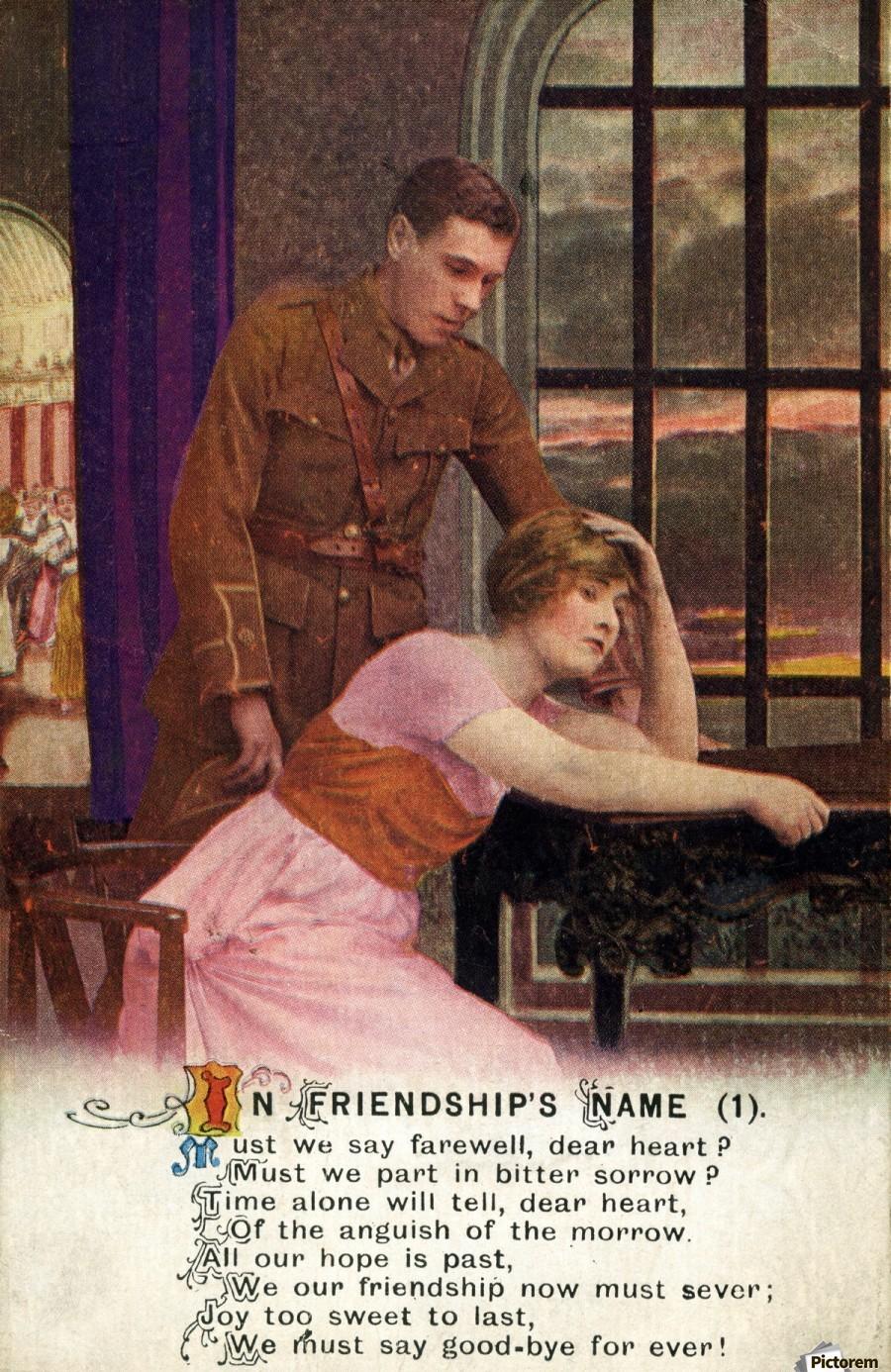 Original  First World War postcard  Print