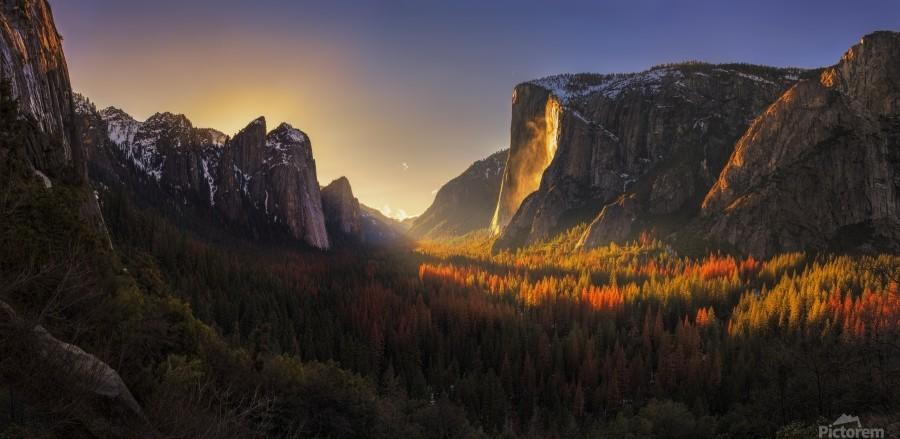 Yosemite Firefall  Print