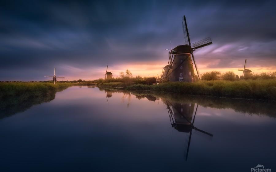 Kinderdijk Windmills  Print
