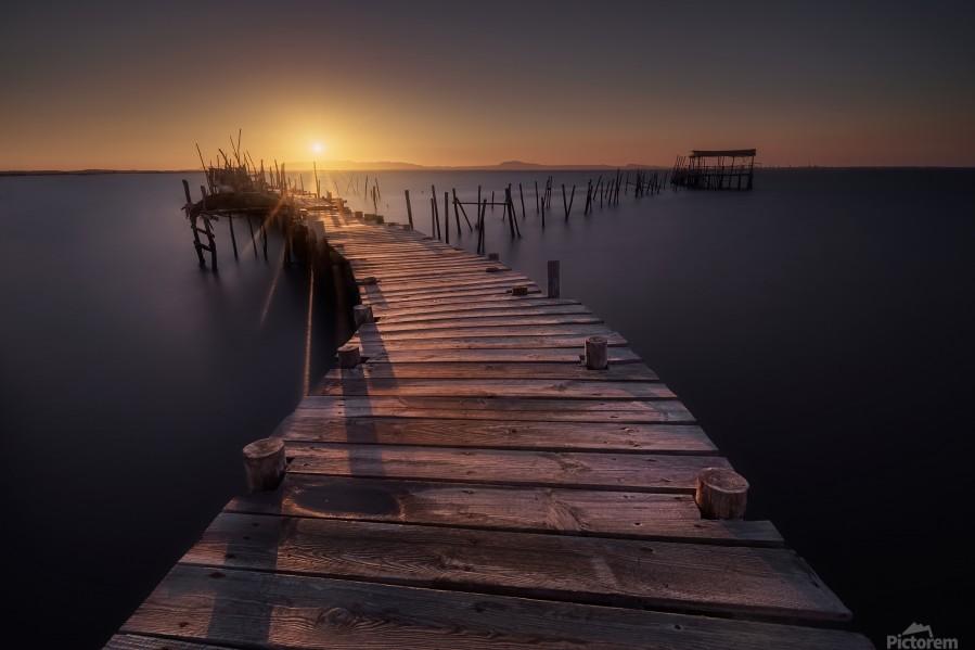 The dock  Print