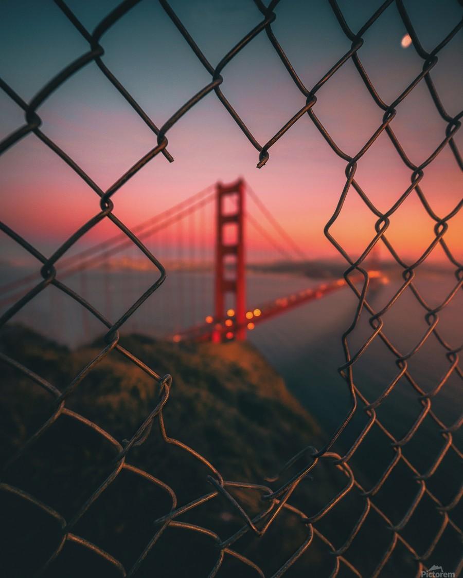 Golden Gate Caged  Imprimer